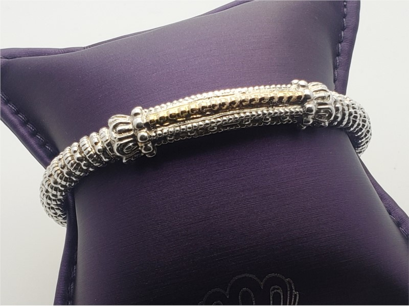 14k yellow gold and sterling silver beaded bracelet by Vahan