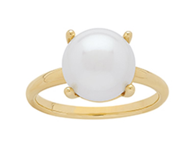 14k yellow gold white pearl fashion ring by Honora