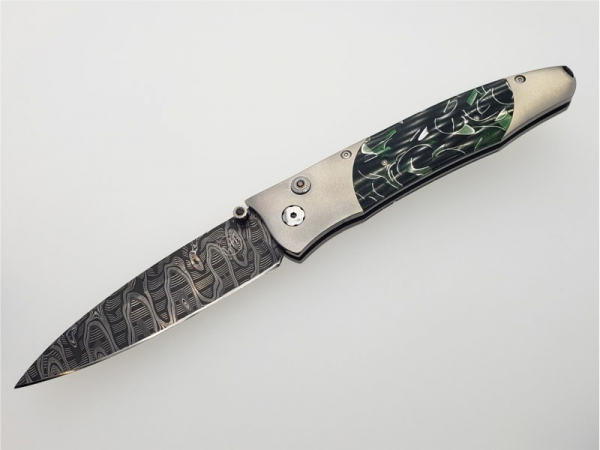 "Gentac ""Green Hornet"" titanium, acrylic, and spinel pocket knife by William Henry Studio"