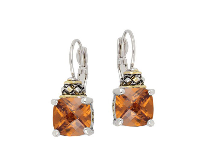 ANVIL COLLECTION SQUARE CUT FRENCH WIRE EARRINGS by John Medeiros