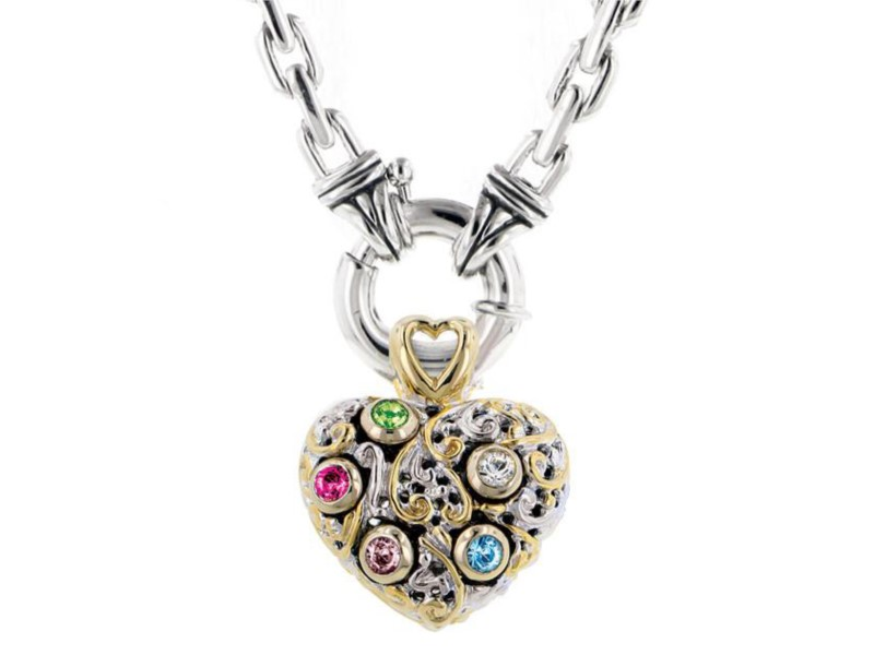 CELEBRATION INTERCHANGEABLE STONE COLLECTION - REVERSIBLE HEART PENDANT by John Medeiros