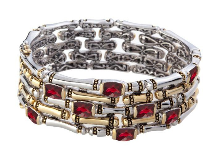 CANIAS COR COLLECTION BRACELET FIVE ROW HINGED BANGLE by John Medeiros