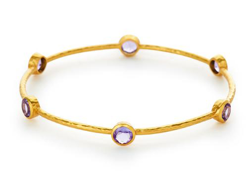 Milano Bangle Amethyst by Julie Vos