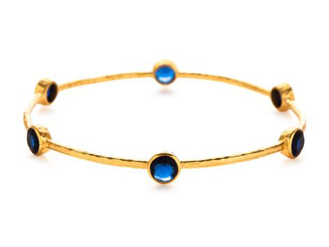 Milano Bangle Sapphire Blue by Julie Vos