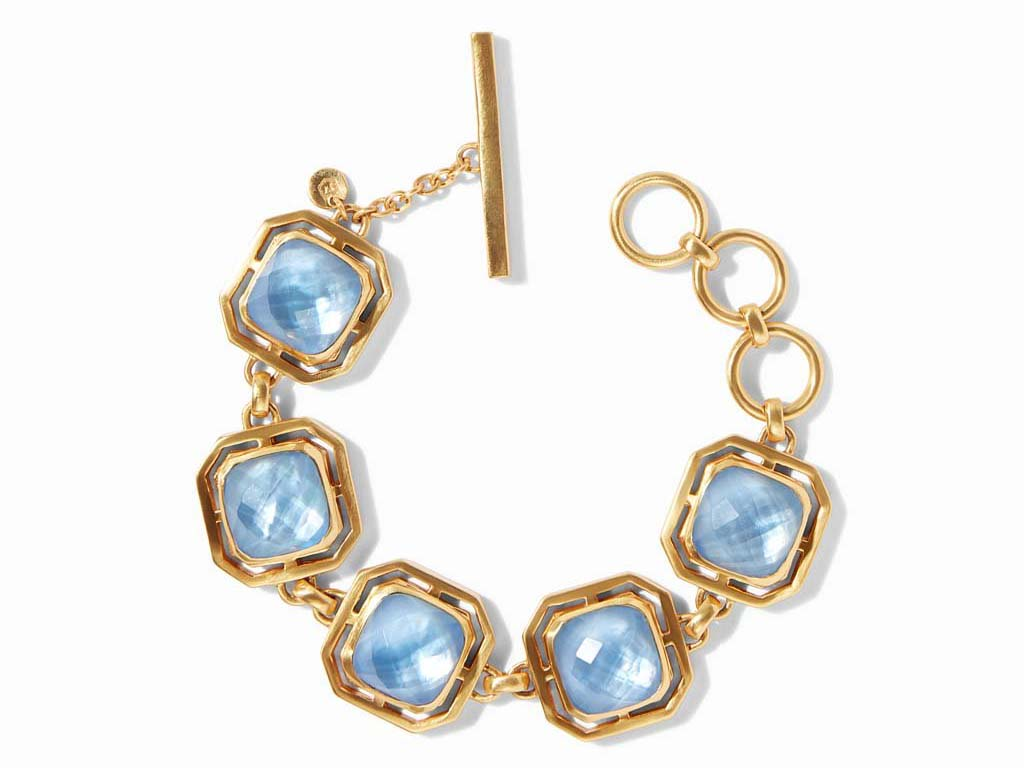 Geneva Bracelet in Iridescent Chalcedony Blue by Julie Vos