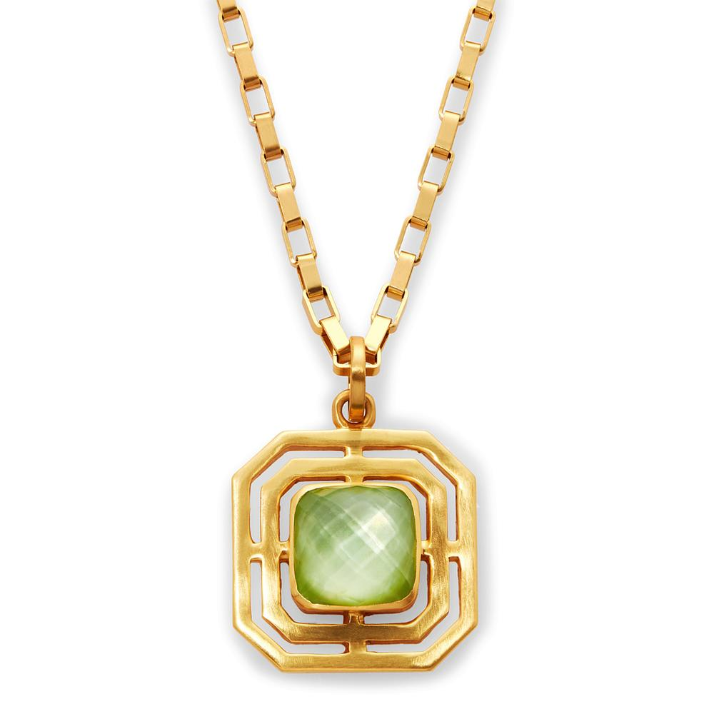 Geneva Pendant with Iridescent Peridot Green by Julie Vos